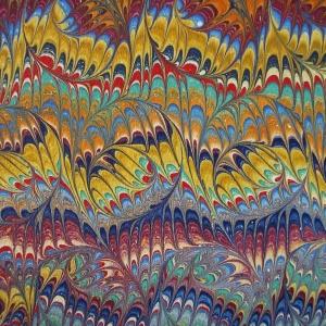 Papier marbre peigne-SylvieHournon-33