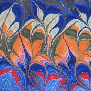 Papier marbre peigne-SylvieHournon-8