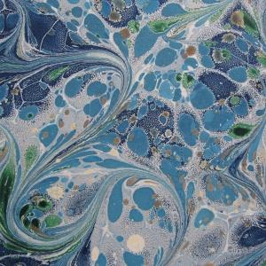 Papier marbre ramage-SylvieHournon-2